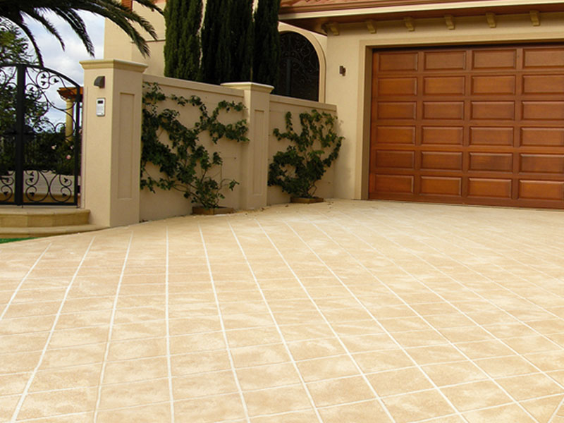 Jetpave stencil paving pattern paving spray paving for Garage flooring adelaide